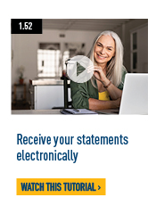 Receive your statements electronically