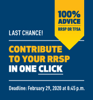 Contribute to your RRSP